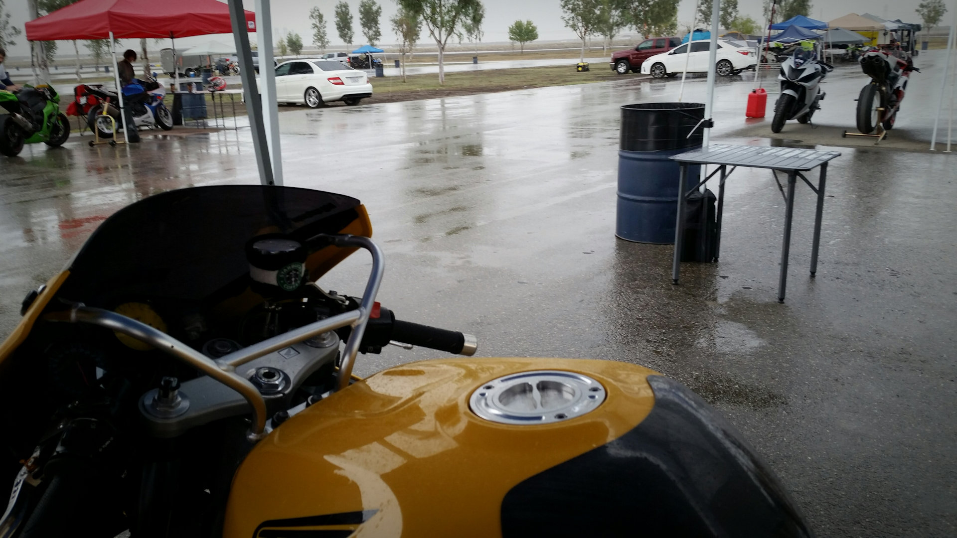 Rain, rain, go away, please don't ruin my track day